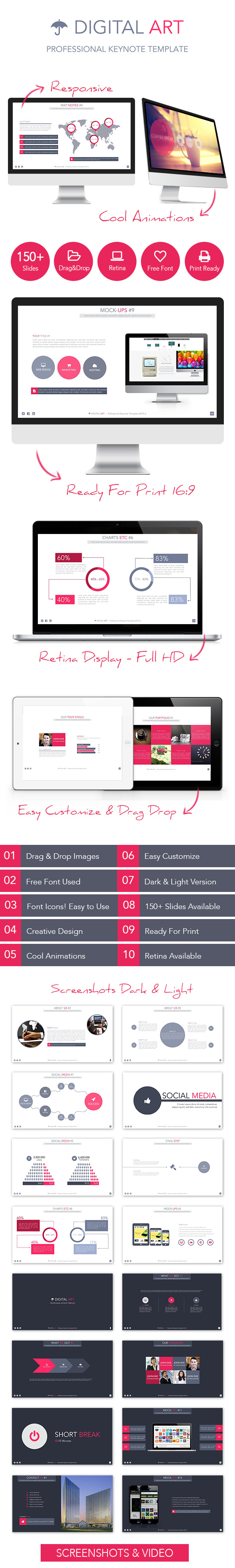 Digital Art Creative Keynote Template