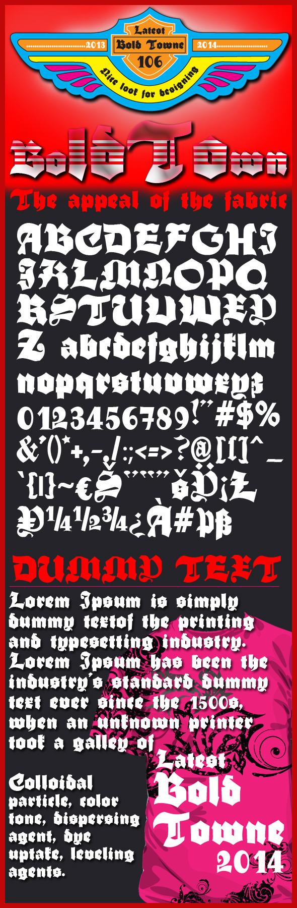 Bold Towne font