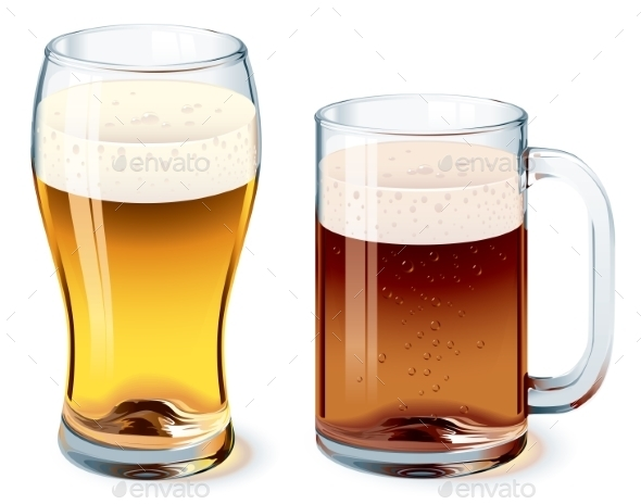 GraphicRiver Beer Glasses 8811574