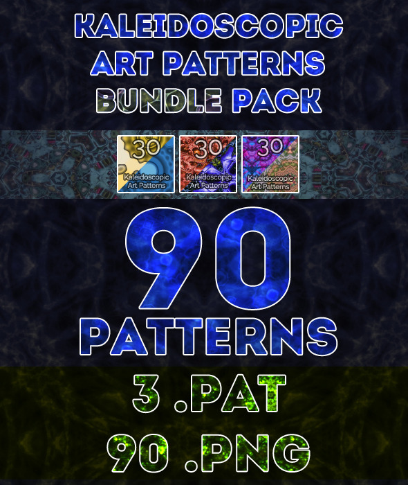 Kaleidoscopic Art Patterns Bundle Pack