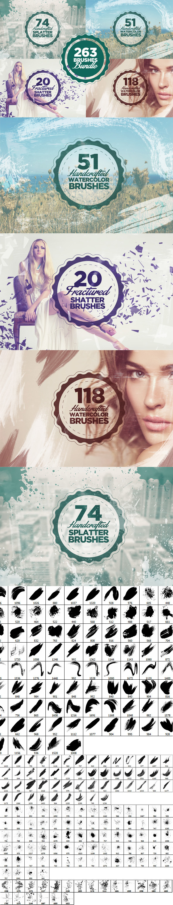 263 Photoshop Brushes Bundle - Brushes Photoshop