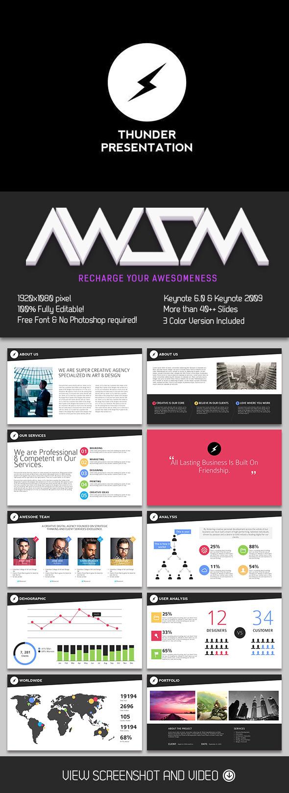 Thunder Keynote Presentation - Business Keynote Templates