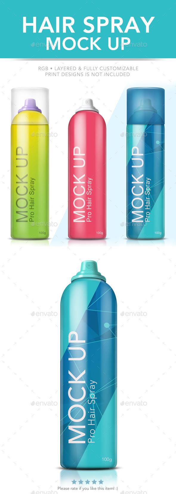 GraphicRiver Hair Spray Mock Up 8811820