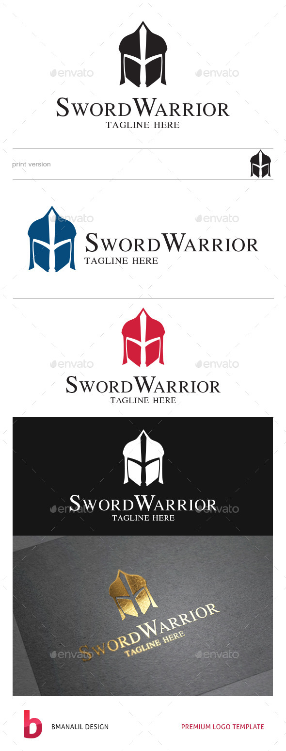 GraphicRiver Sword Warrior Logo 8811822