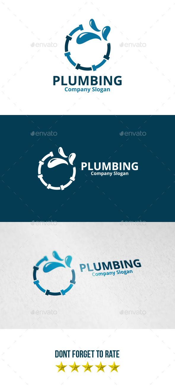 GraphicRiver Plumbing Logo 8812354