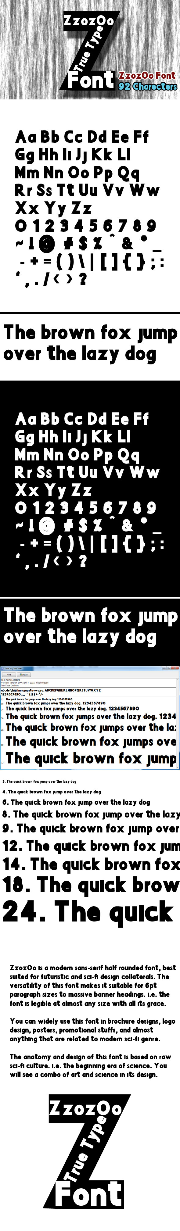 Zzozoo Font