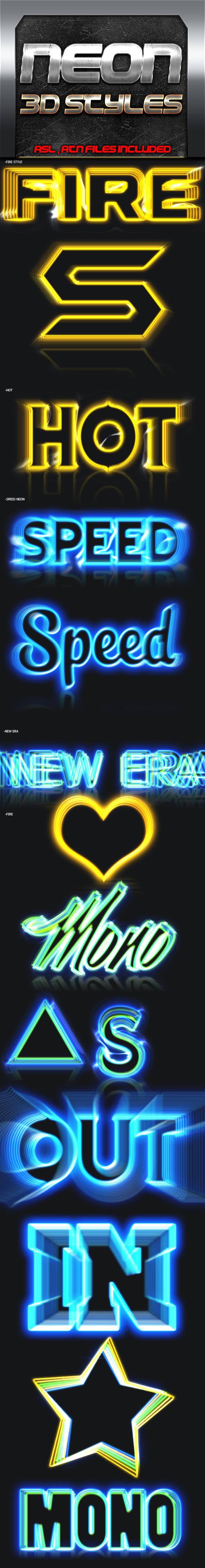 Neon 3D Styles