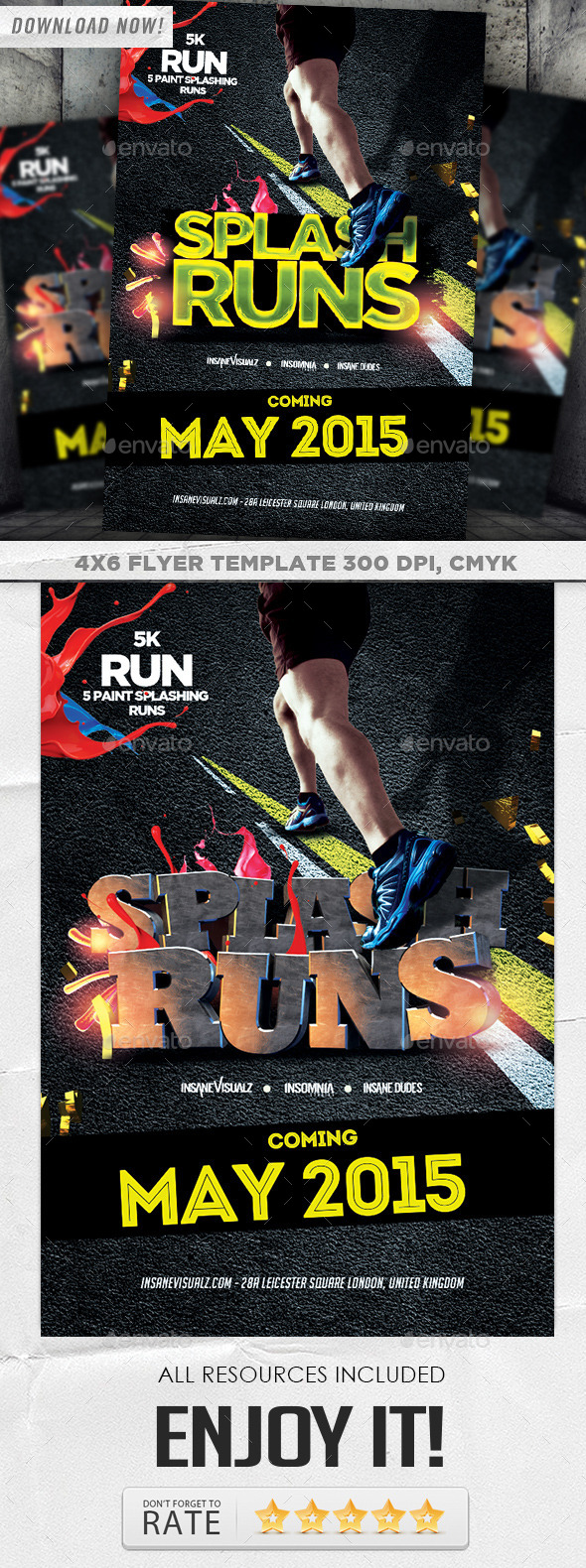 GraphicRiver Splash Runs Flyer Template 8798352
