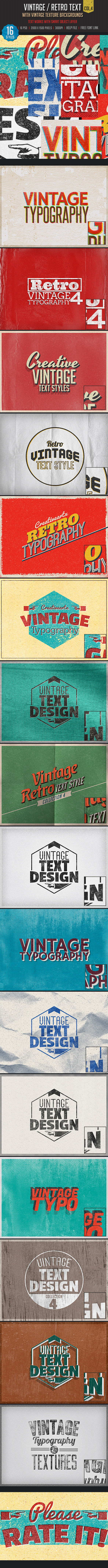 Vintage Retro Text Col 4