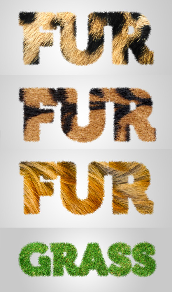 Furry Grassy Text Effect Action