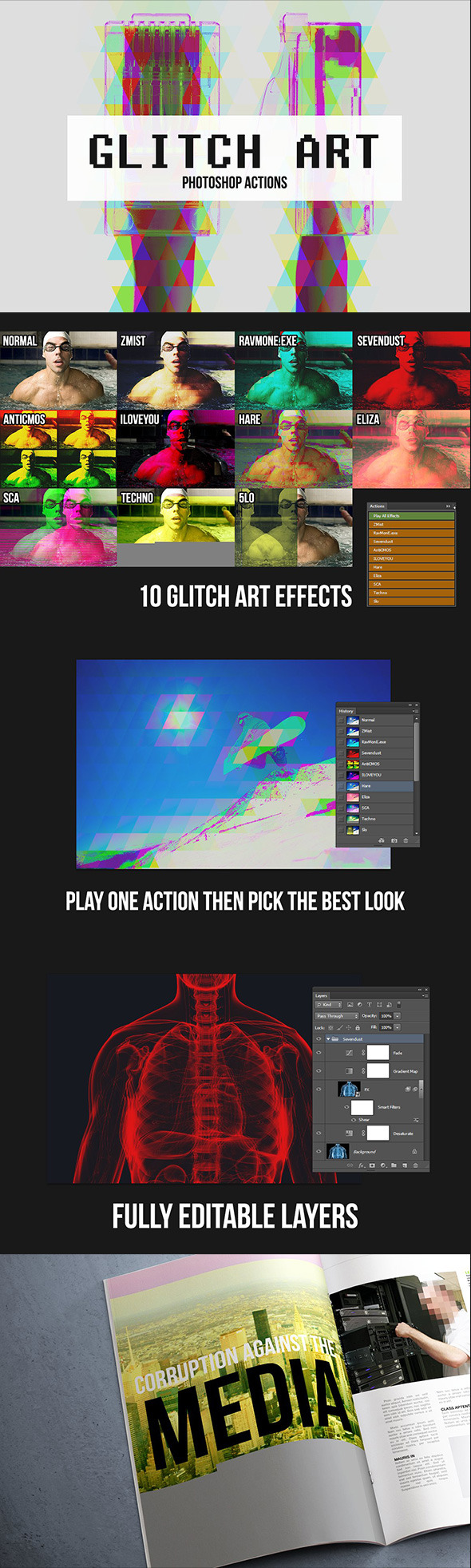 10 Glitch Art Effects - Photo Effects Actions