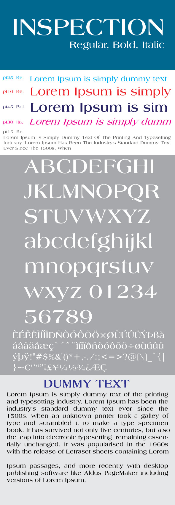 Inspection Font