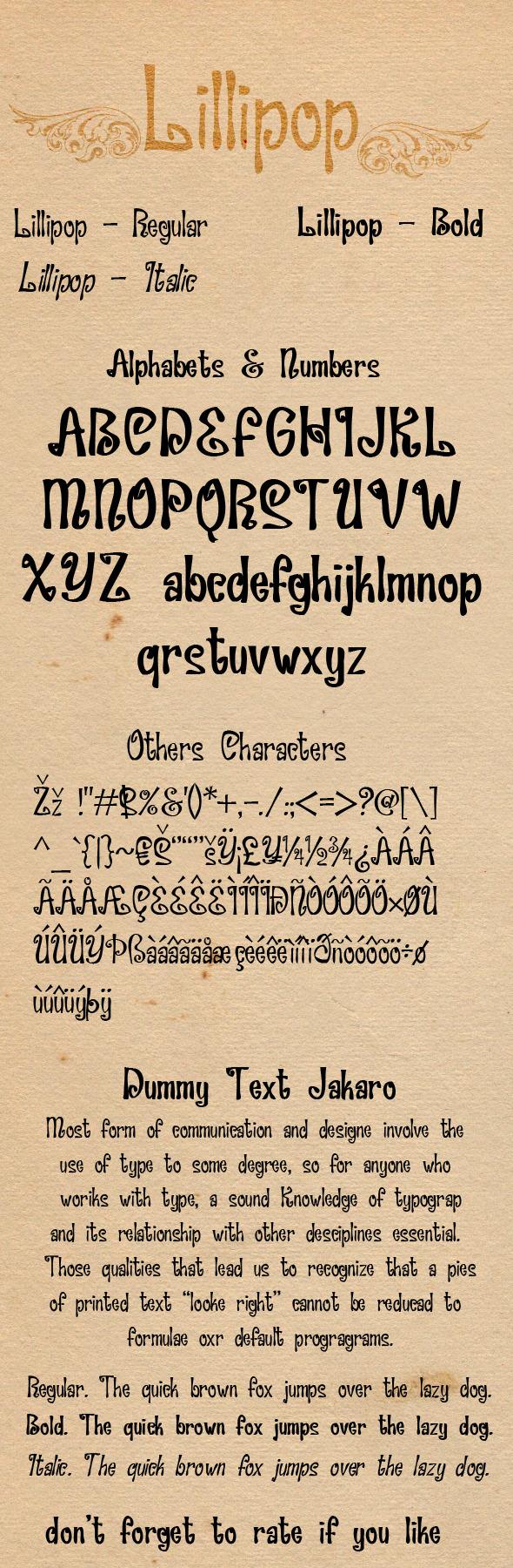 Lillipip Font