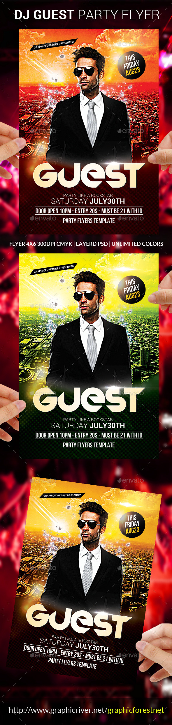 GraphicRiver Dj Guest Flyer Template 8812908