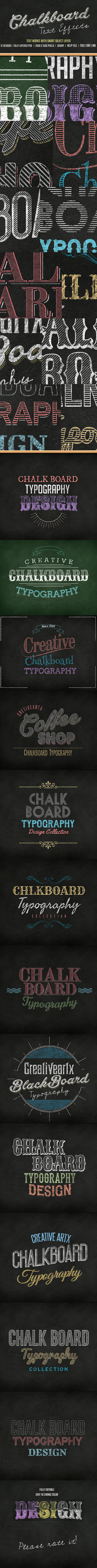 Chalkboard Text - Text Effects Actions