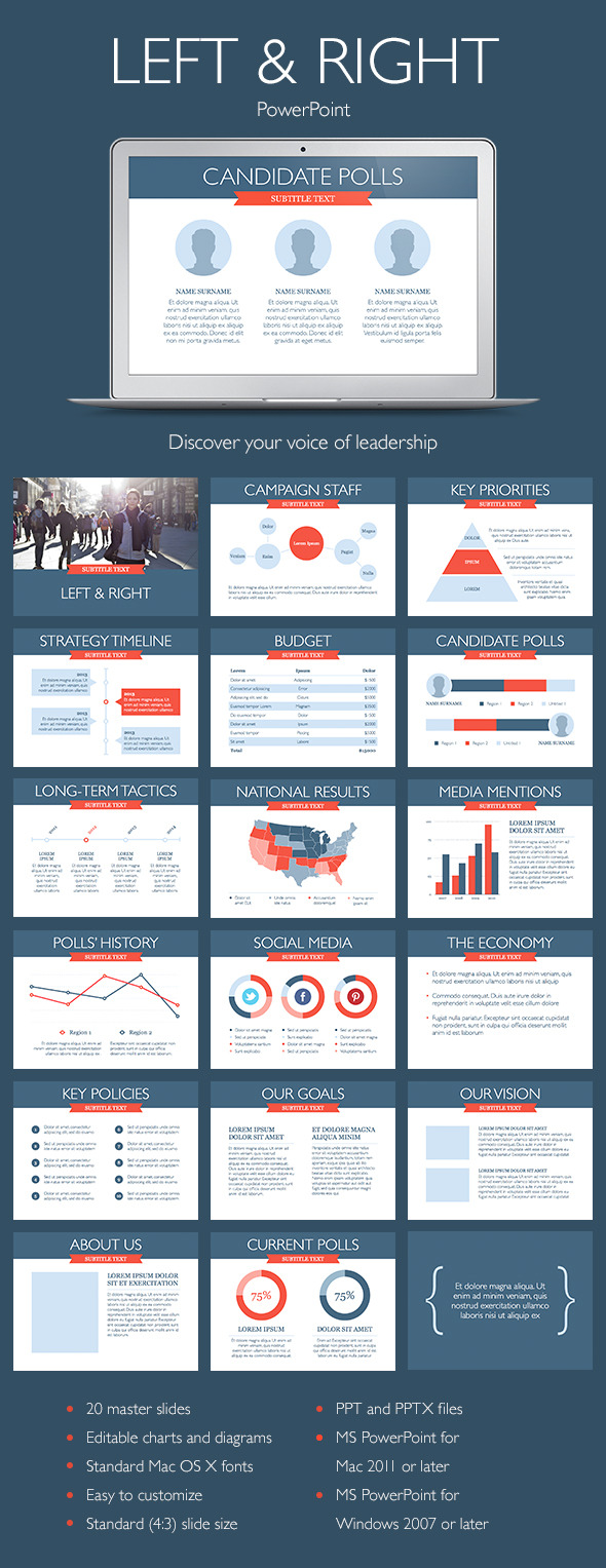 Left & Right PowerPoint Template