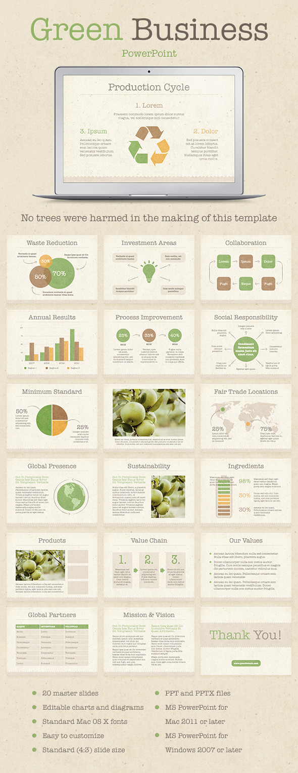 Green Business PowerPoint Template