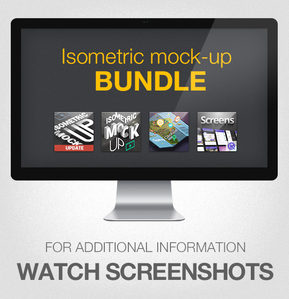 Isometric Mock-UP Actions Bundle - Actions Photoshop