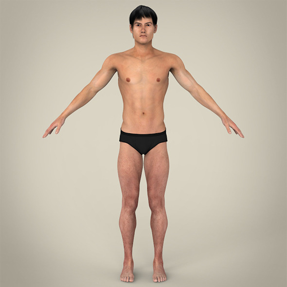 Realistic Young Asian Man - 3DOcean Item for Sale