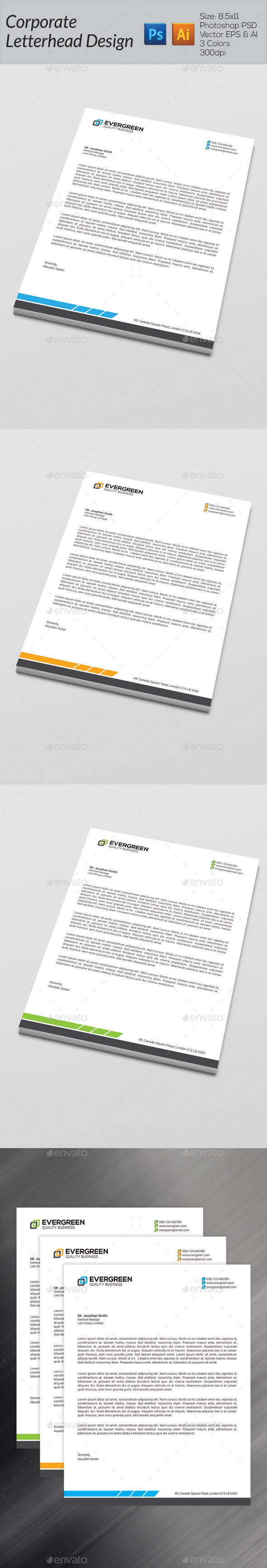GraphicRiver Corporate Letterhead 8813476