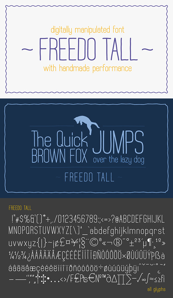 Freedo Tall Font - Comic Decorative
