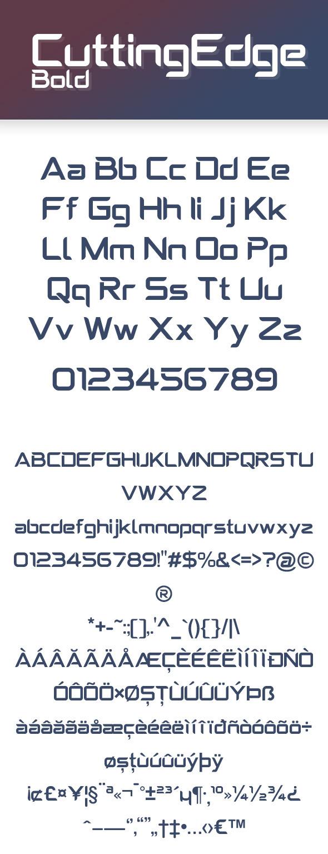 CuttingEdge Bold - Condensed Sans-Serif