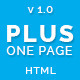 Plus One - One Page Responsive Website Template - ThemeForest Item for Sale