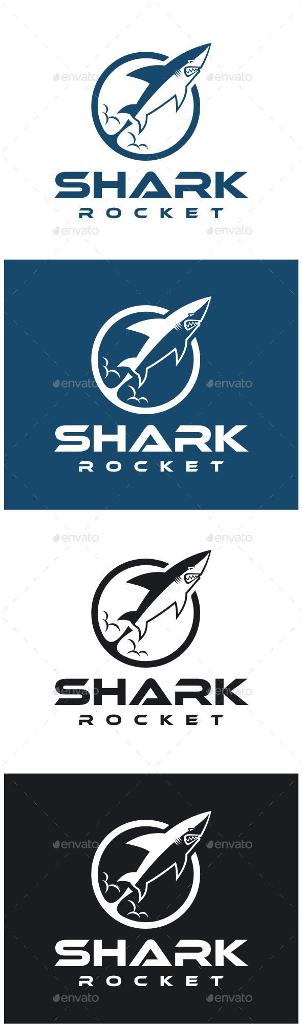 GraphicRiver Shark Rocket Logo 8813538