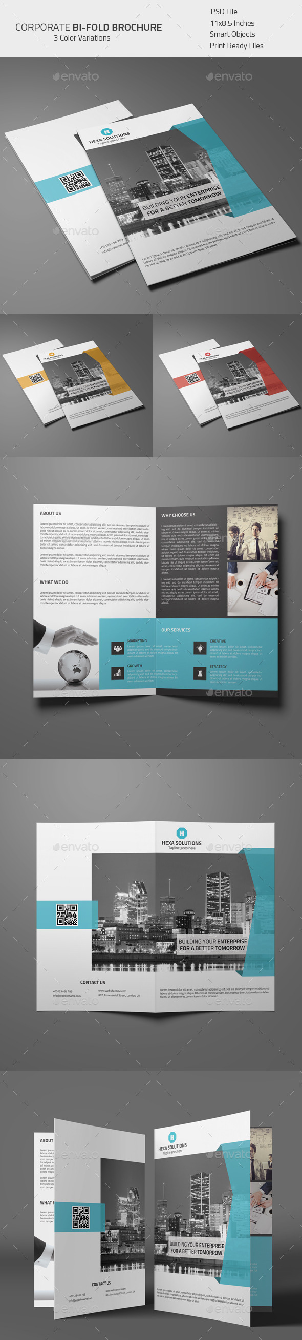 GraphicRiver Corporate Bi-fold Brochure 02 8814715