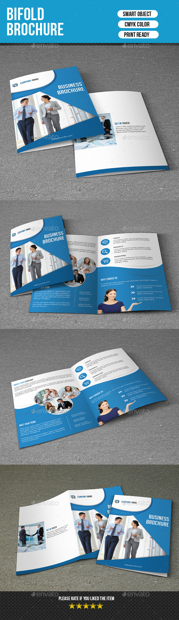 GraphicRiver Bifold Brochure for Business-V126 8814727