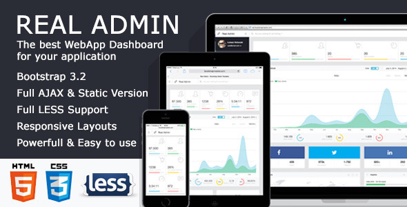 Admin & Dashboard Themes - Real Admin - <p>Game Changing UX – WebApp Dashboard</p>