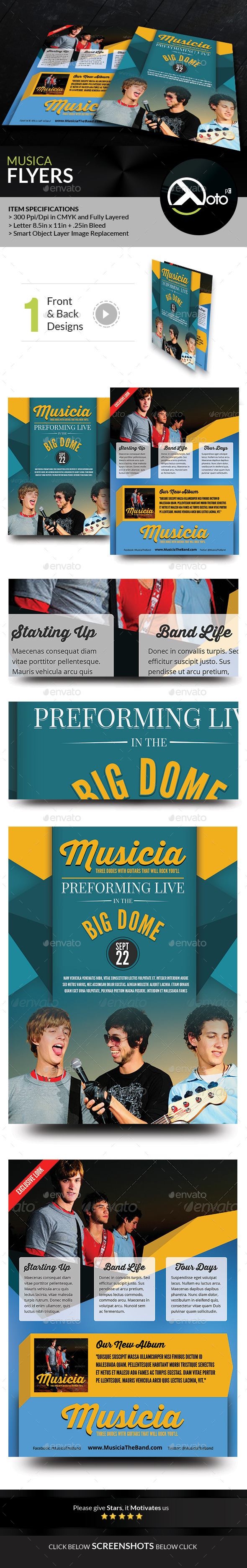 GraphicRiver Musica Artist Profile Flyers 8815270