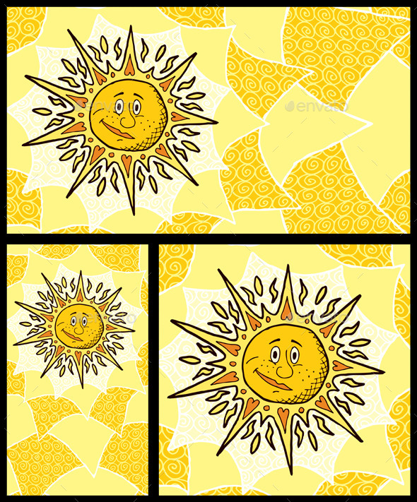 GraphicRiver Sun Backgrounds 8815294