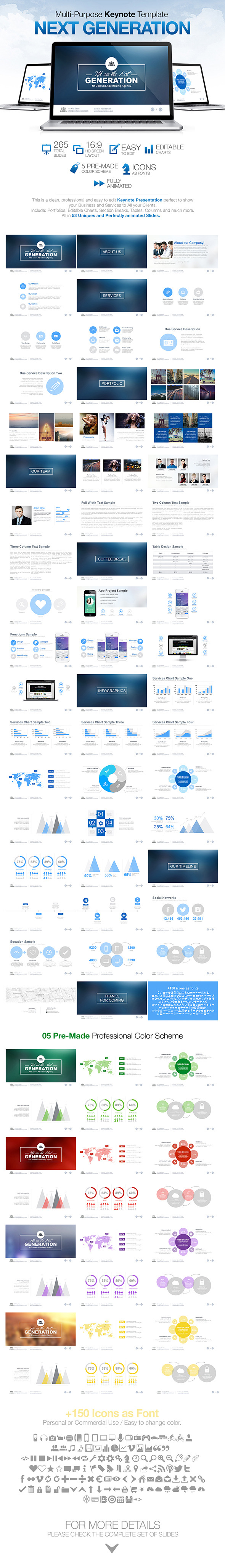 Next Generation - Multi Purpose Keynote Template - Keynote Templates Presentation Templates