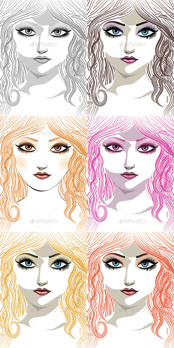 GraphicRiver Beauty Girl Face 8815343
