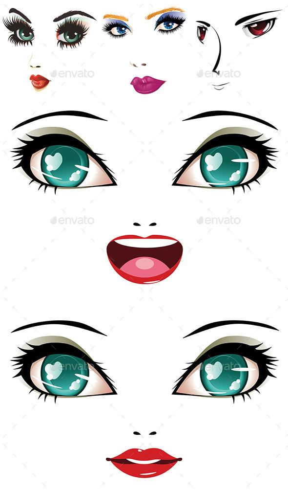 GraphicRiver Woman Faces 8815346
