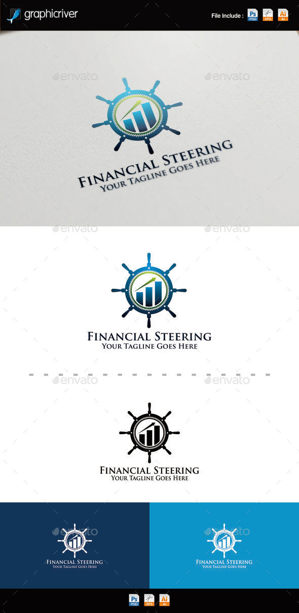 GraphicRiver Finance Steering Wheel Logo 8815347