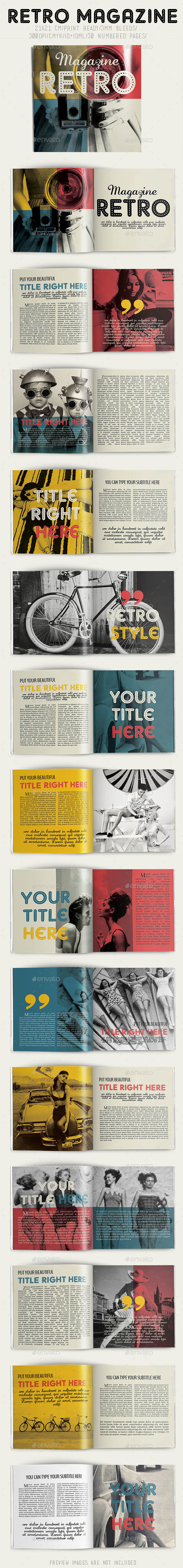 GraphicRiver Retro Magazine 8815658