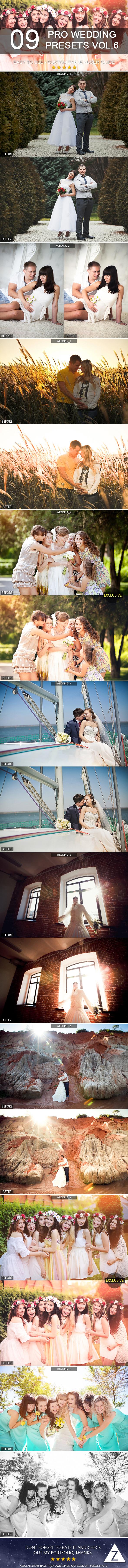 9 Pro Wedding Presets vol.6 - Lightroom Presets Add-ons