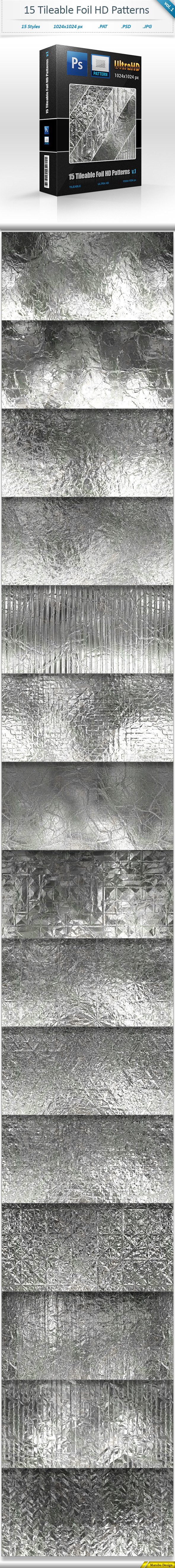 Foil Tileable Pattern Backgrounds vol 1