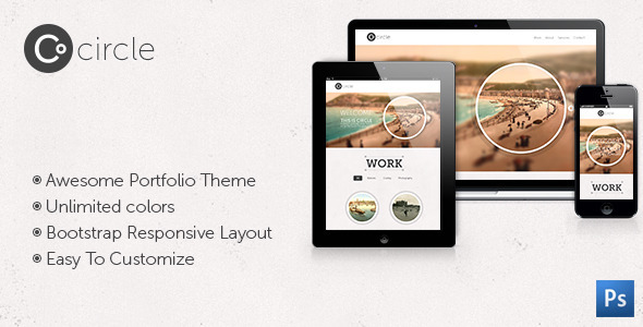 ThemeForest Circle Theme One Page PSD Template 8815684