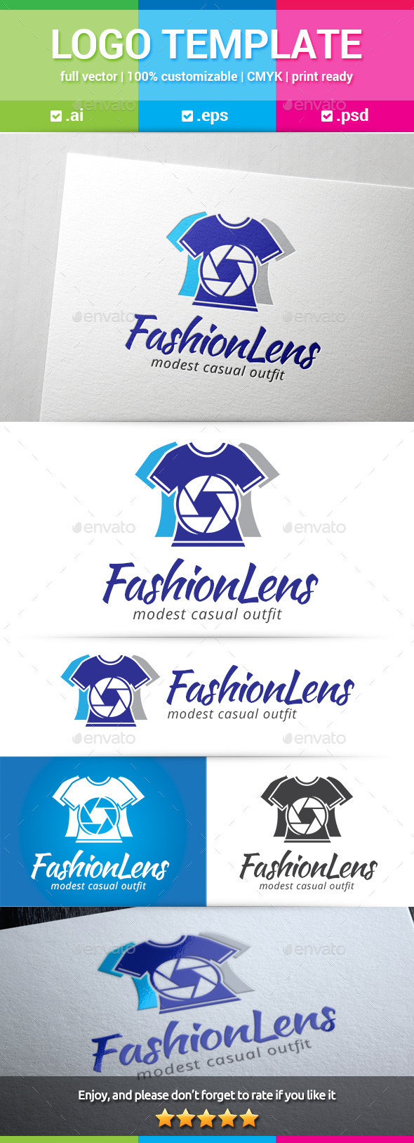 GraphicRiver Fashion Lens Logo 8815695