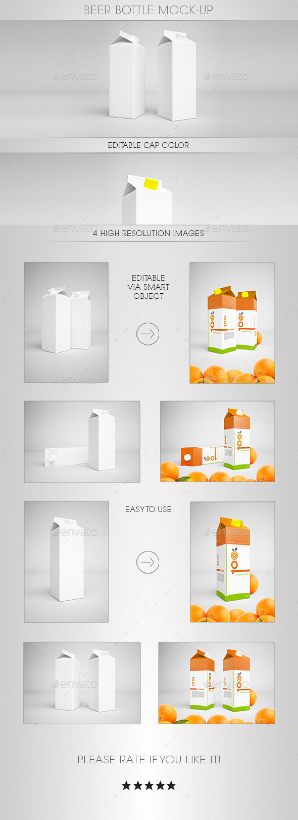 GraphicRiver Orange Juice Mock-Up 8815716