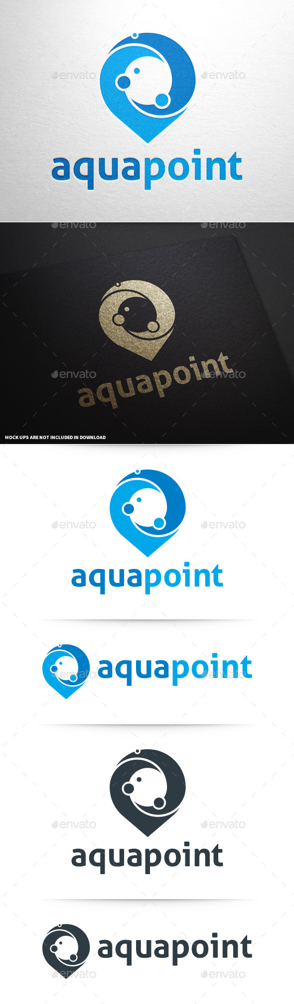 GraphicRiver Aqua Point Logo Template 8815764