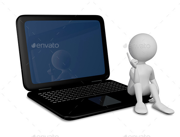 GraphicRiver Man with Laptop 8815766