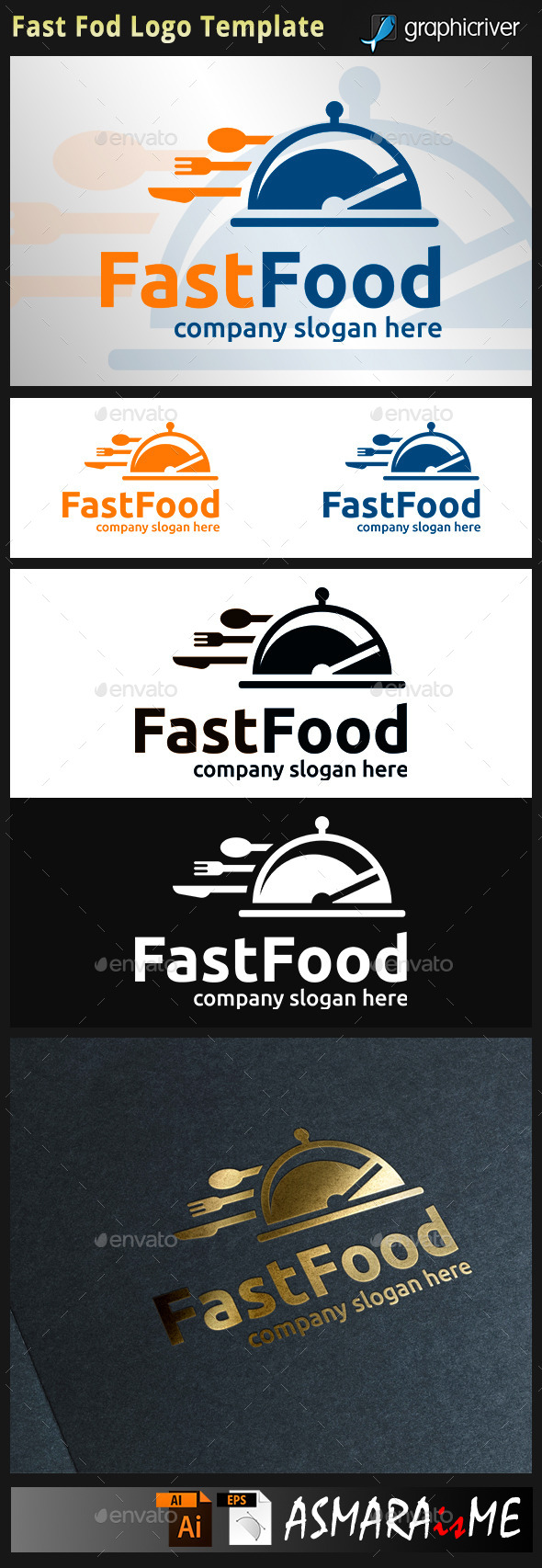 GraphicRiver Fast Food Logo 8815771