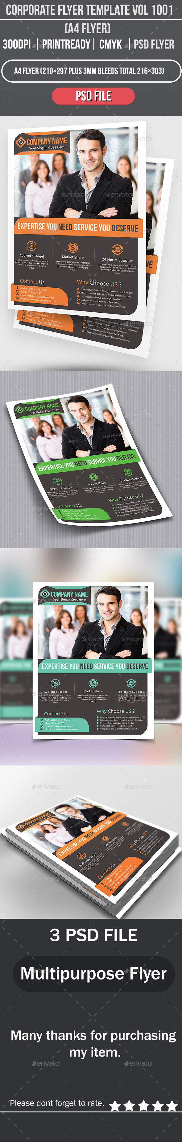 GraphicRiver Corporate Flyer Template Vol 1001 8815785
