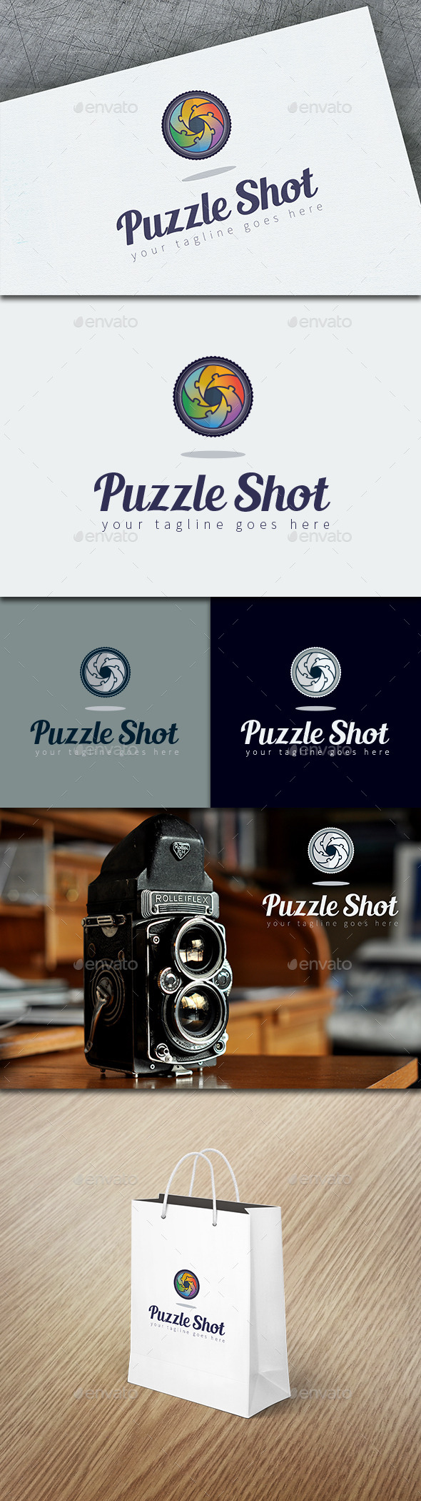 GraphicRiver Puzzle Shot Logo Template 8815888
