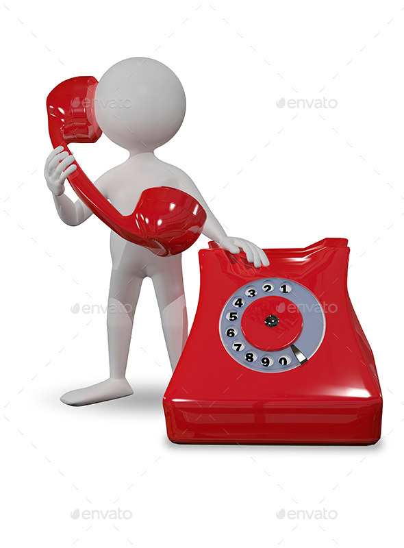 GraphicRiver Man with Red Telephone 8815954