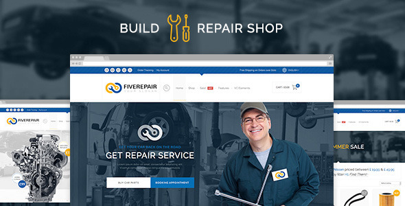 456Repair eCommerce Wordpress Theme